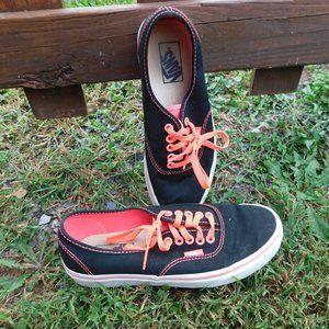 Vans 8.5 Black & Neon Pink Sneakers